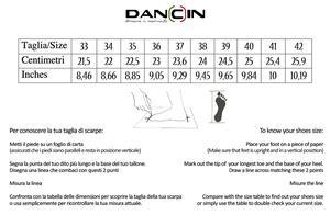 Dancing shoes in black satin with crossed ribbon tie, heel 8 cm