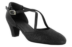 Dancin - Dancing shoes and studio broadway (cuccarini) in blinged fabrics black heel 5 cm