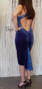 Veronica Blue Velvet Dress