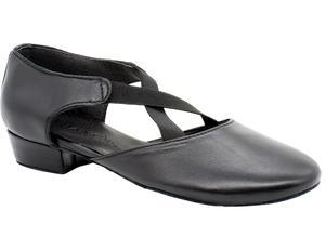 Dancing shoes teacher black leather heel 2,5 cm