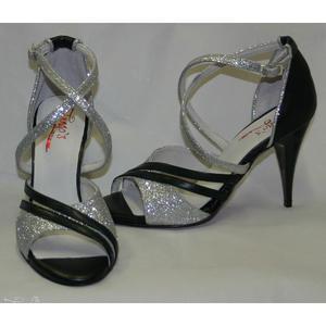 Sandalo La Cruz nero e argento 2  145,00€-20%