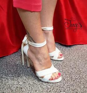 Scarpa Corinne Avorio Tacco 10,5 cm