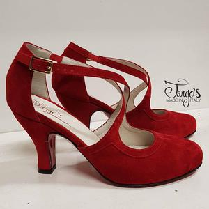 Romy Red Suede Shoe