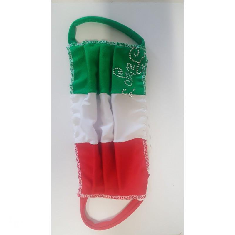 Mascherina Italia con logo strass Tango's