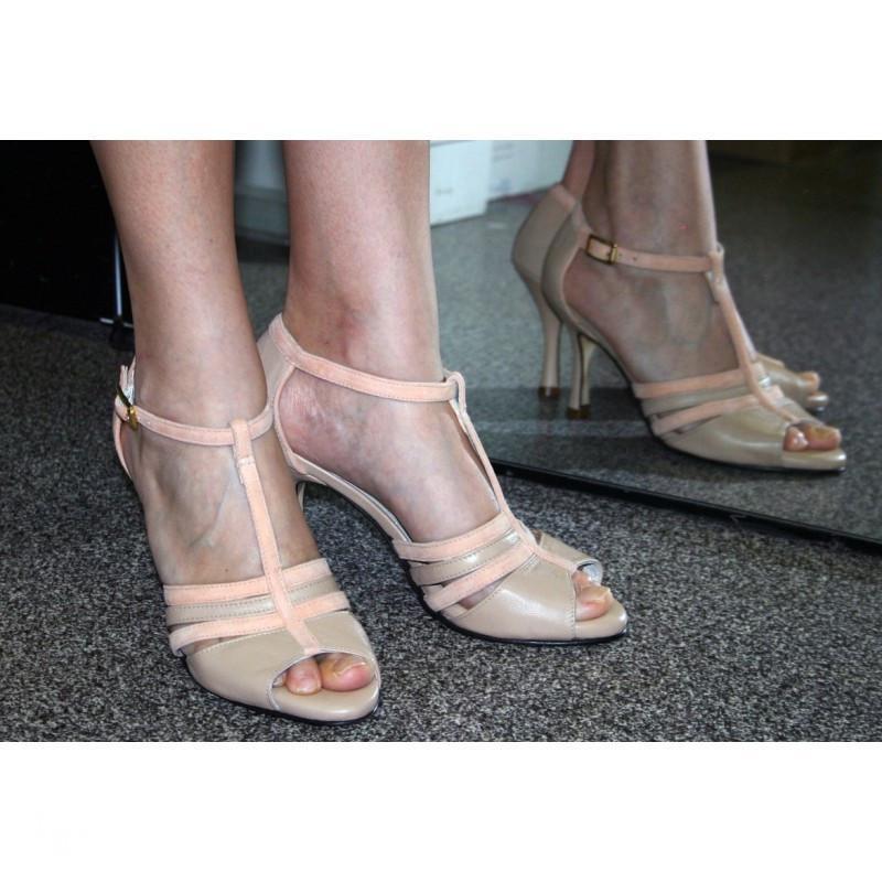 Sandalo Dorado beige e rosa