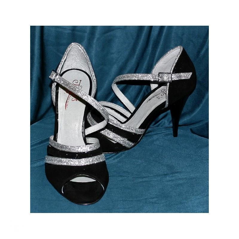Sandalo Dorado nero e argento 2