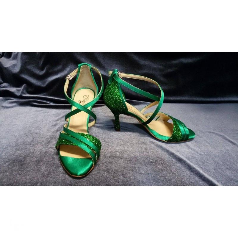Sandalo La cruz glitter verde