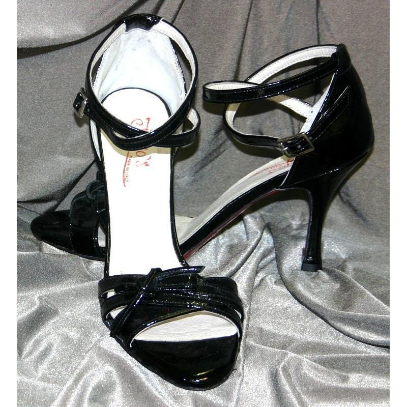 Sandalo La Cruz vernice nera