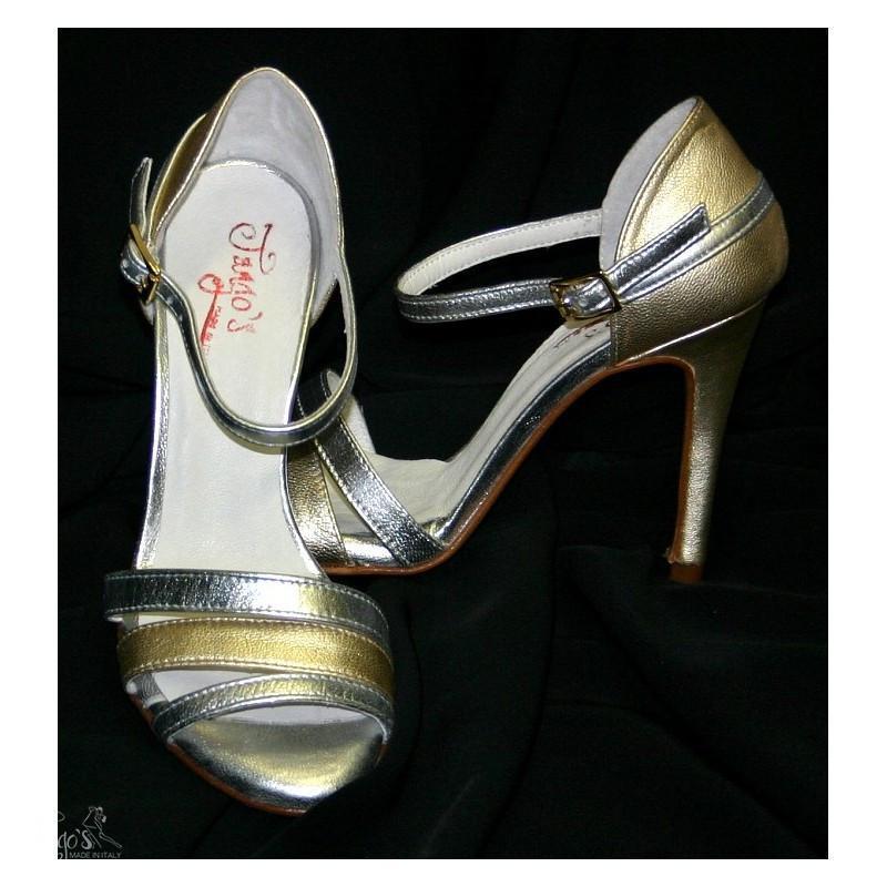 Sandalo La Plata argento e oro