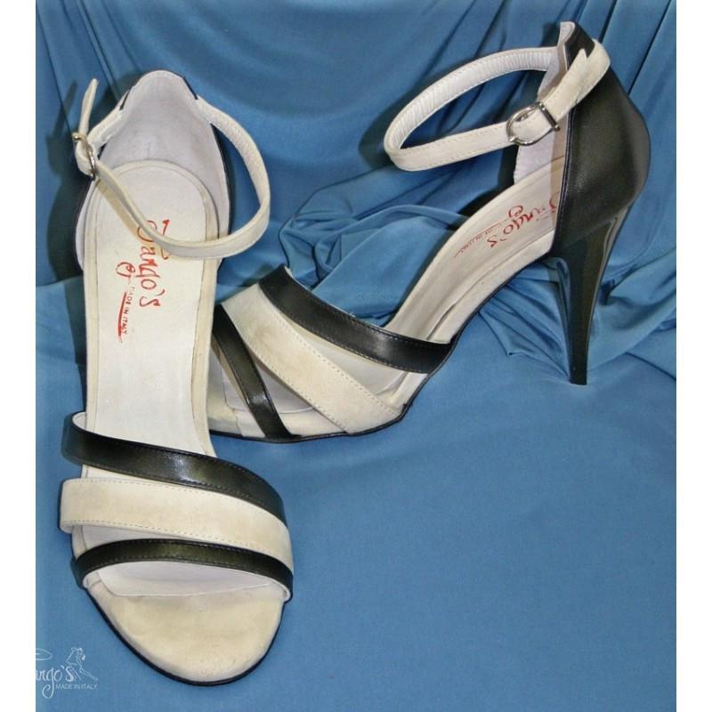 Sandalo La Plata beige e nero