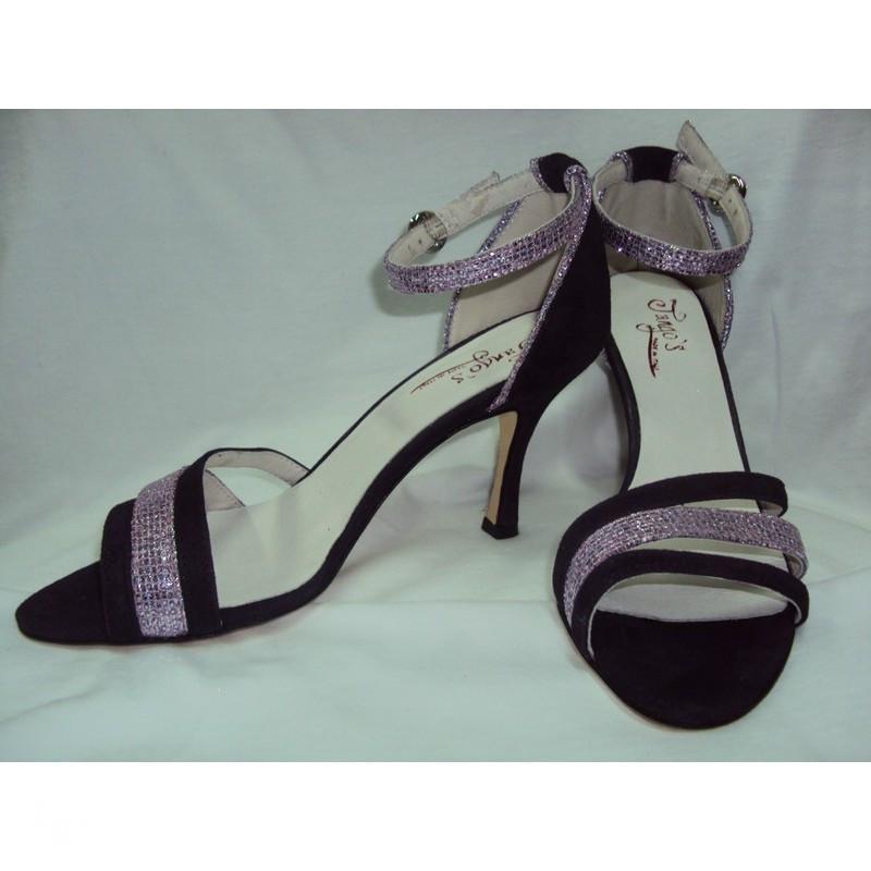 Sandalo La Plata glicine e nero