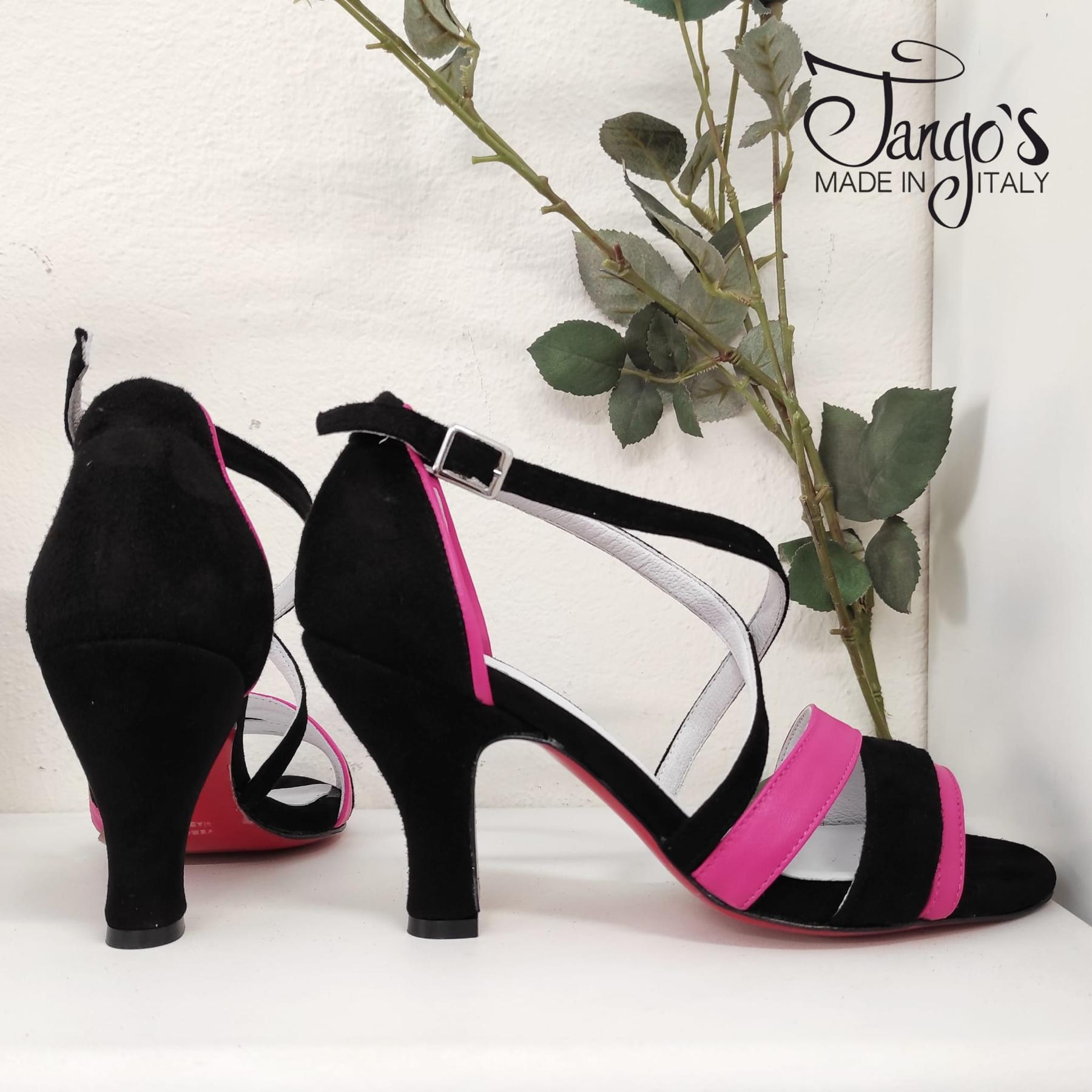 Sandalo La Plata Nero Rosa