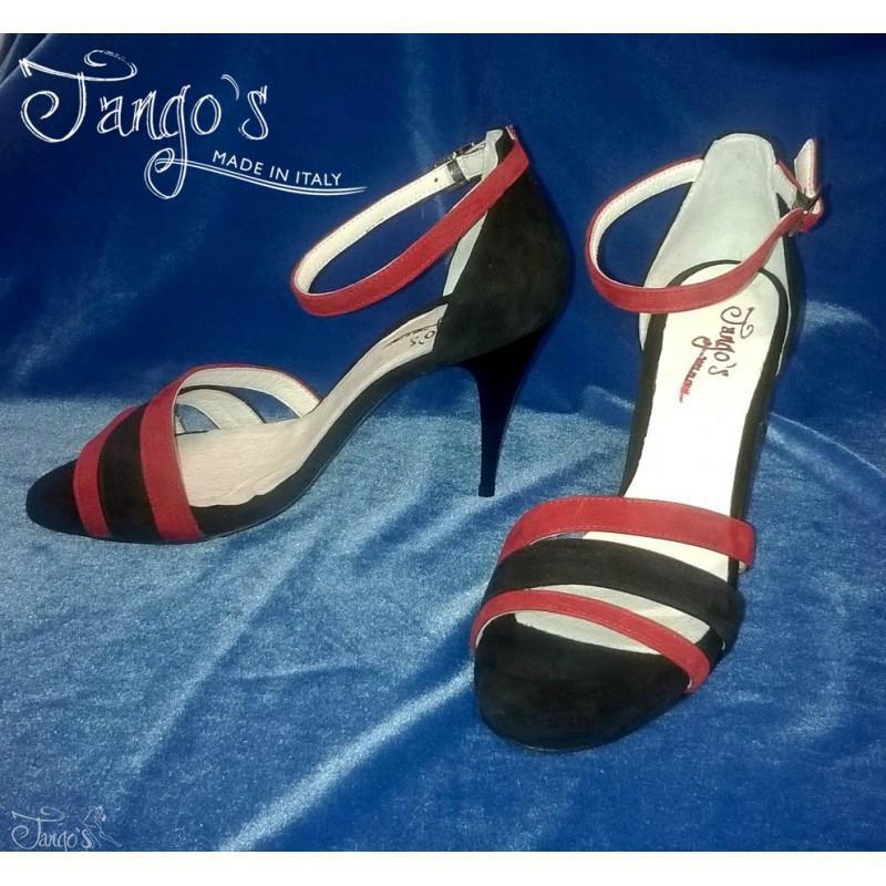 Sandalo La Plata rossa e nera