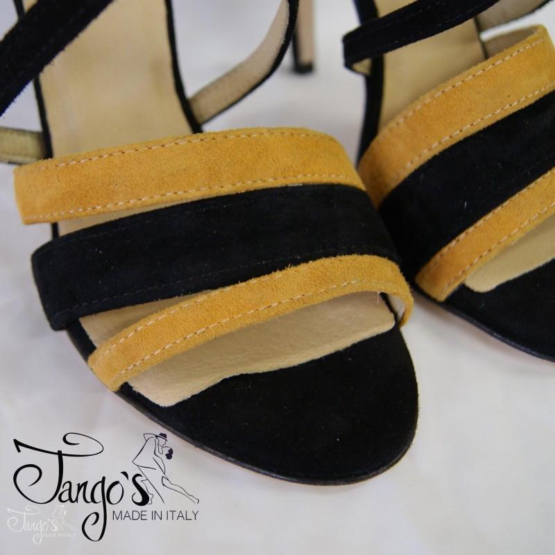 Sandalo La Plata senape e nero