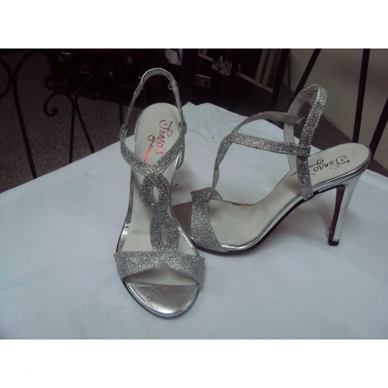 Sandalo Tango Timote glitter argento 2