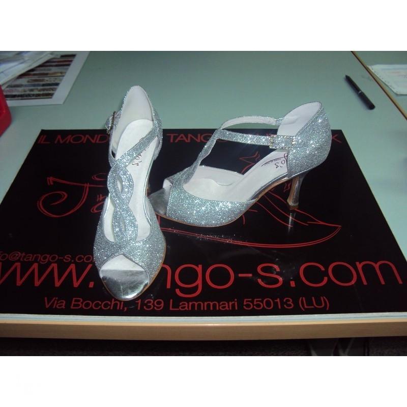 Sandalo Timote glitter argento 5