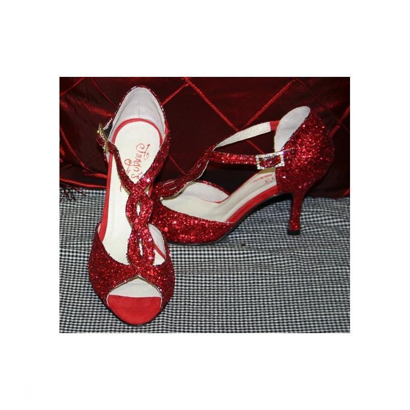 Sandalo Timote glitter rosso 2