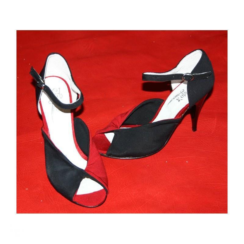 Scarpa Concita rosso e nero