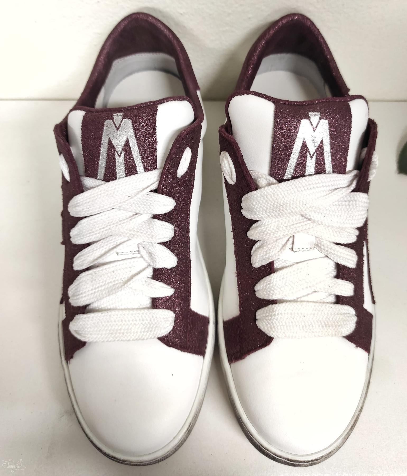 Sneakers Pelle Bordeaux