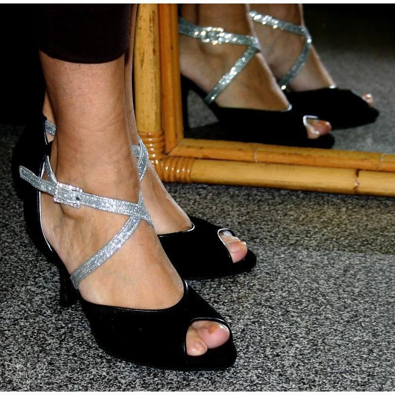 Tango Felicia nero con glitter 3