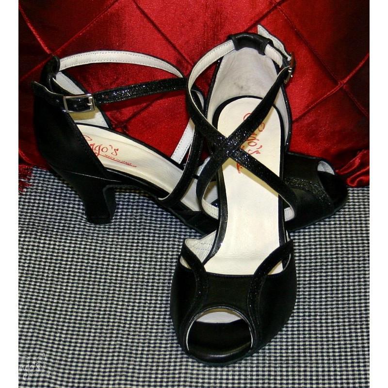 Tango Lanùs nero e glitter