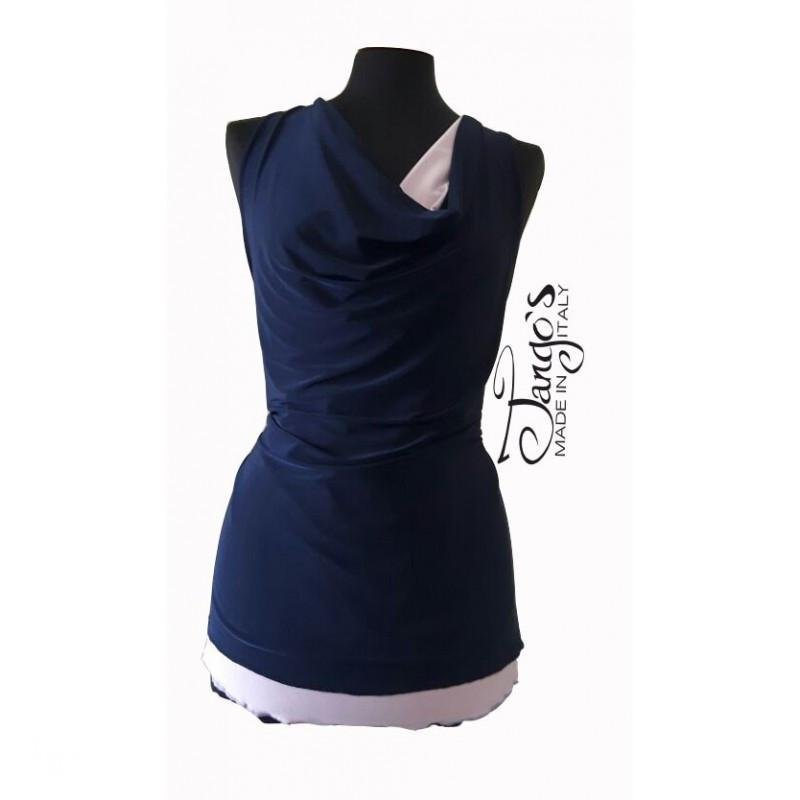 Erendira Double-Face Lilac and Blue Top
